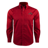 Red House Red Long Sleeve Shirt-Hammy w/ Hockey Stick