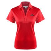 Ladies Red Performance Fine Jacquard Polo-Hammy w/ Hockey Stick