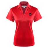 Ladies Red Performance Fine Jacquard Polo-Hammy Head