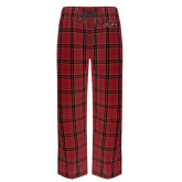 Red/Black Flannel Pajama Pant-Hammy w/ Hockey Stick