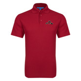 Red Dry Zone Grid Polo-Hammy w/ Hockey Stick