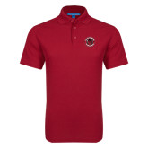 Red Dry Zone Grid Polo-Badge