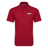 Red Dry Zone Grid Polo-IceHogs Wordmark
