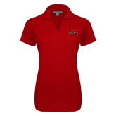 Ladies Red Dry Zone Grid Polo-Hammy w/ Hockey Stick