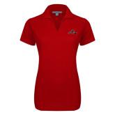 Ladies Red Dry Zone Grid Polo-Hammy w/ Hockey Stick