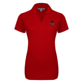 Ladies Red Dry Zone Grid Polo-Hammy Head