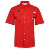 Columbia Bonehead Red Short Sleeve Shirt-Hammy w/ Hockey Stick