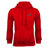 Red Fleece Hoodie-Hammy w/ Hockey Stick