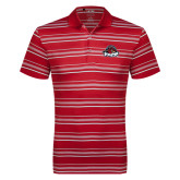 Adidas Climalite Red Textured Stripe Polo-Primary Mark
