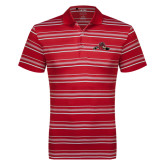 Adidas Climalite Red Textured Stripe Polo-Hammy w/ Hockey Stick