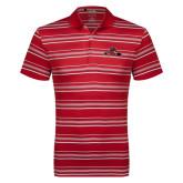 Adidas Climalite Red Textured Stripe Polo-Hammy w/ Hockey Stick