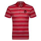 Adidas Climalite Red Textured Stripe Polo-Hammy Head