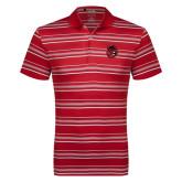 Adidas Climalite Red Textured Stripe Polo-Hammy Head