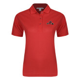 Ladies Easycare Red Pique Polo-Hammy w/ Hockey Stick