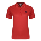 Ladies Easycare Red Pique Polo-Hammy Head