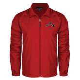 Full Zip Red Wind Jacket-Hammy w/ Hockey Stick
