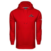 Under Armour Red Performance Sweats Team Hood-Hammy w/ Hockey Stick