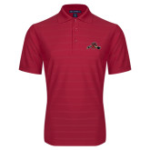 Red Horizontal Textured Polo-Hammy w/ Hockey Stick