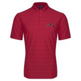 Red Horizontal Textured Polo-Hammy w/ Hockey Stick