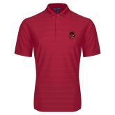 Red Horizontal Textured Polo-Hammy Head