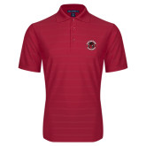 Red Horizontal Textured Polo-Badge