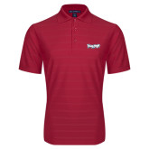 Red Horizontal Textured Polo-IceHogs Wordmark