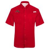 Columbia Tamiami Performance Red Short Sleeve Shirt-Hammy w/ Hockey Stick