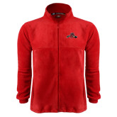 Fleece Full Zip Red Jacket-Hammy w/ Hockey Stick