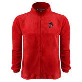 Fleece Full Zip Red Jacket-Hammy Head