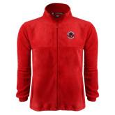 Fleece Full Zip Red Jacket-Badge