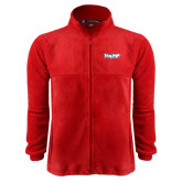Fleece Full Zip Red Jacket-IceHogs Wordmark