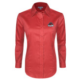 Ladies Red House Red Long Sleeve Shirt-Primary Mark