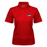 Ladies Red Dry Mesh Polo-Primary Mark