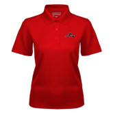 Ladies Red Dry Mesh Polo-Hammy w/ Hockey Stick