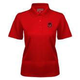 Ladies Red Dry Mesh Polo-Hammy Head