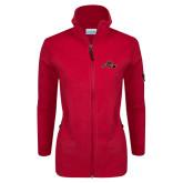 Columbia Ladies Full Zip Red Fleece Jacket-Hammy w/ Hockey Stick
