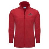 Columbia Full Zip Red Fleece Jacket-Hammy w/ Hockey Stick