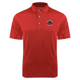 Red Dry Mesh Polo-Badge