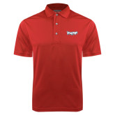 Red Dry Mesh Polo-IceHogs Wordmark