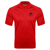 Red Textured Saddle Shoulder Polo-Hammy Head