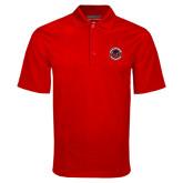 Red Mini Stripe Polo-Badge