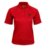 Ladies Red Textured Saddle Shoulder Polo-Hammy Head