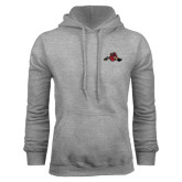 Grey Fleece Hoodie-Hammy w/ Hockey Stick