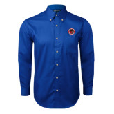 Royal Twill Button Down Long Sleeve-Badge