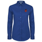 Ladies Royal Twill Button Down Long Sleeve-Hammy Head