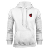 White Fleece Hoodie-Hammy Head