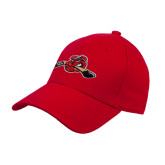 Red Heavyweight Twill Pro Style Hat-Hammy w/ Hockey Stick