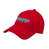 Red Heavyweight Twill Pro Style Hat-IceHogs Wordmark