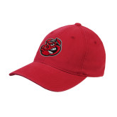Red OttoFlex Unstructured Low Profile Hat-Hammy Head