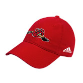 Adidas Red Slouch Unstructured Low Profile Hat-Hammy w/ Hockey Stick